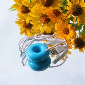 Миниатюрный увлажнитель воздуха: бублик - голубой