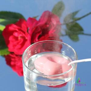 Миниатюрный увлажнитель воздуха цветок - розовый