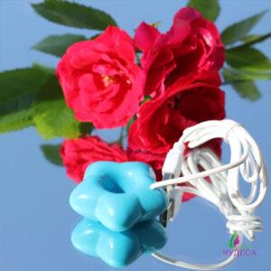 Миниатюрный увлажнитель воздуха цветок - голубой