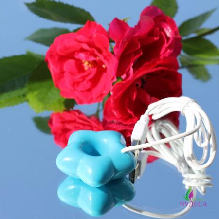 Миниатюрный увлажнитель воздуха цветок – голубой