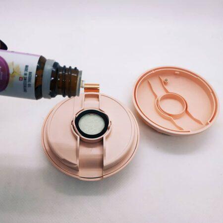 Портативный переносной аромадиффузор – ракушка (розовый)